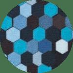 Honingraat-multi-blauw